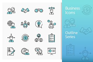 Business Icons - Outline Series