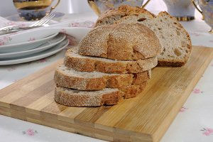 oat bread slices