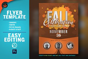 Fall Celebration Church Flyer