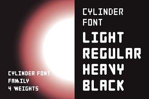 Cylinder Font Family