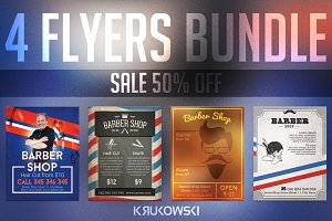 Barber Shop Flyers Bundle