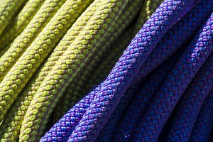 Close-up of colorful ropes