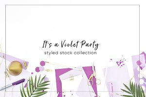 Purple Party Desktop Stock Bundle