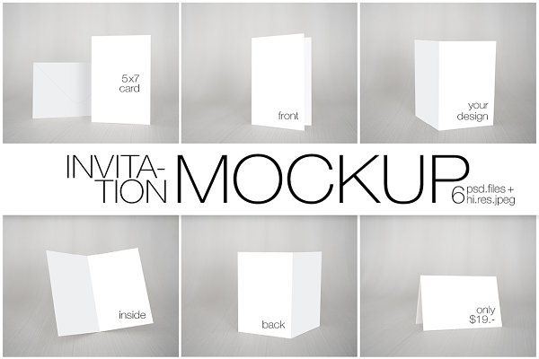 5x7 Card/Invitation Nordic Mockup