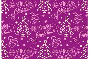 Christmas purple wrapping