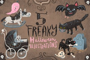 5 Freaky Halloween Illustrations