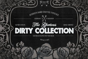 The Dirty Collection - 16 Fonts