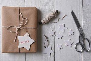 Christmas present Merry gift tag