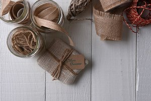 Wrapping rustic Christmas Gifts
