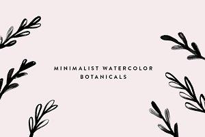 Minimal Watercolor Botanicals