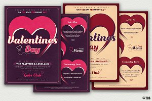 Valentines Day Flyer + Menu V9