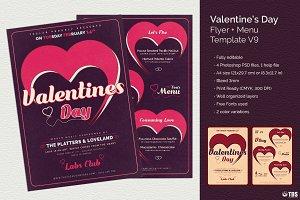 Valentines Day Flyer + Menu V9