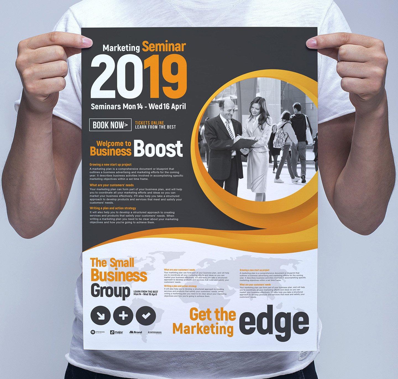 Marketing Seminar Poster Template | Creative Flyer ...