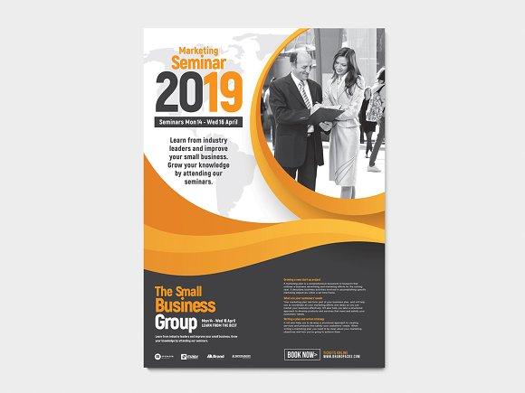 seminar advertisement template flyer templates creative market