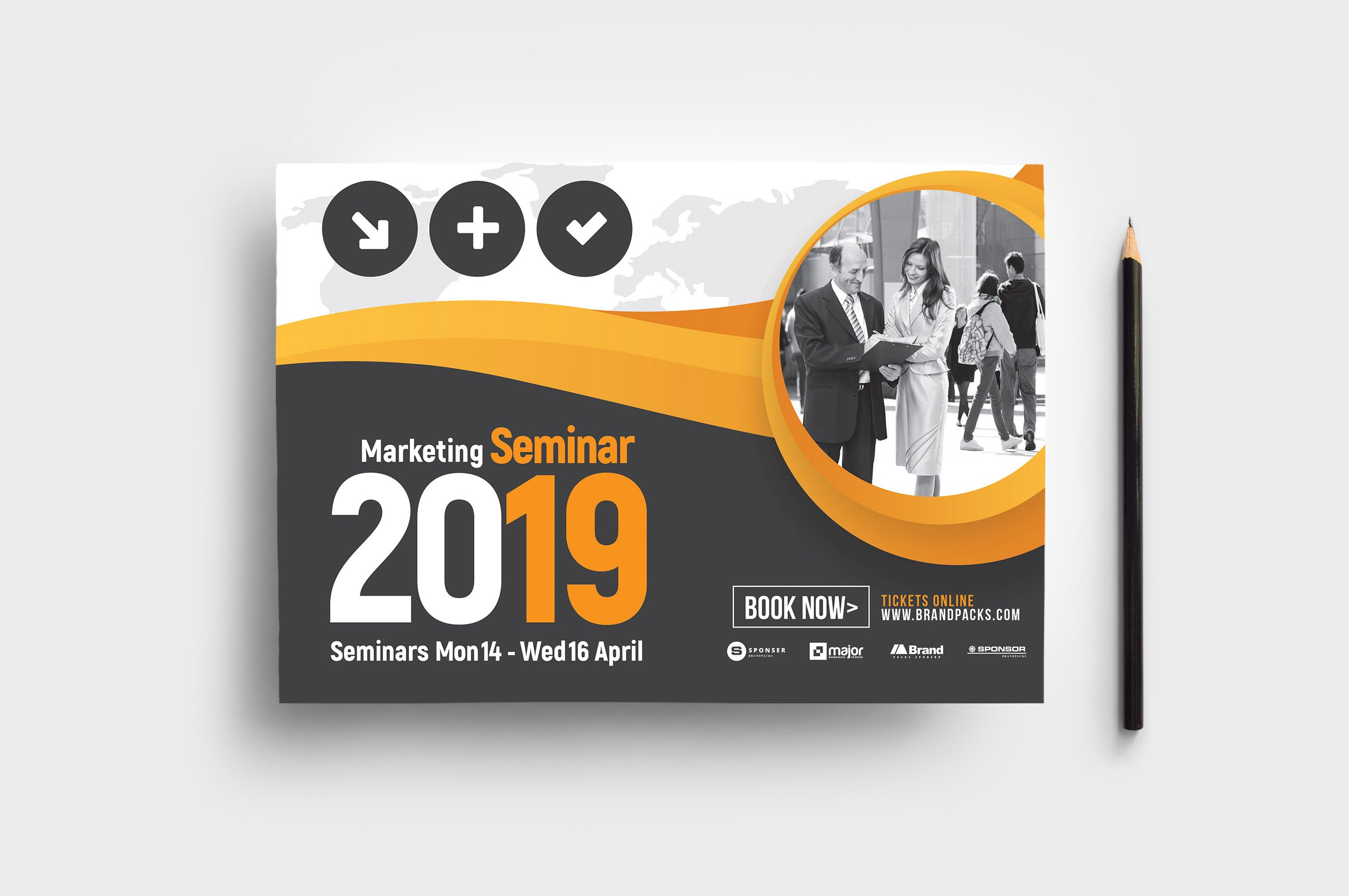 Marketing Seminar Flyer Template ~ Flyer Templates ~ Creative Market