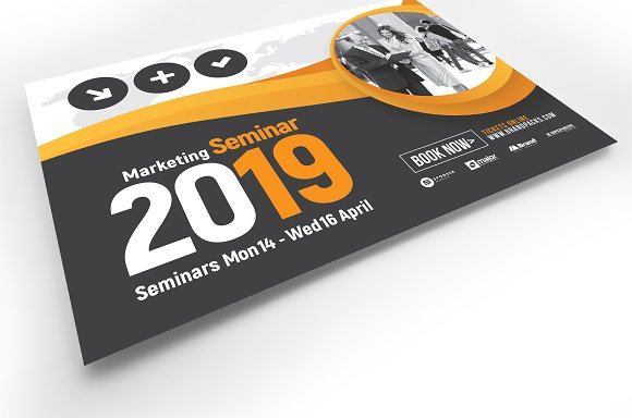 marketing seminar flyer template flyer templates creative market