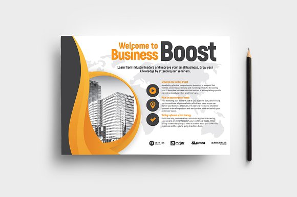 marketing seminar flyer template v2 flyer templates creative market