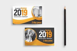 Marketing Seminar Business Card