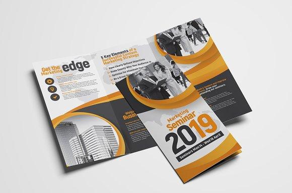 TriFold Brochure Template Brochure Templates Creative Market - Three page brochure template
