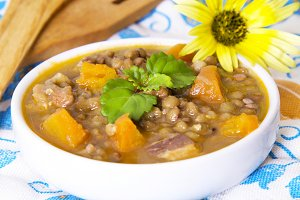 lentils and flowers