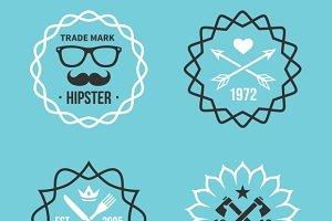Vintage hipster labels