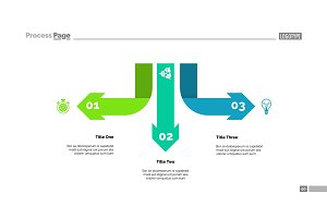 Three Arrow Infographic Diagram Template