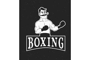 vintage boxer logo