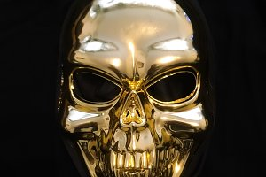 Gold skull background