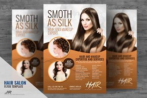 Hair and Make-up Services Flyer