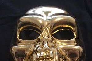Gold skull photo
