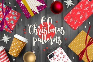 60 Christmas Seamless Patterns