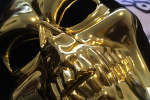 Gold skull Devil photo