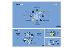 Four Logistics Chart Slide Templates Set