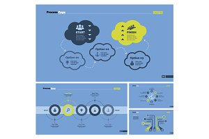 Four Logistics Slide Templates Set