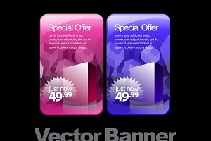 Shiny glossy colored banners