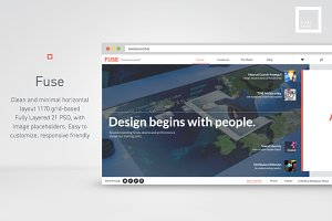 FUSE-clean and flat card layout web