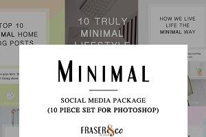 Minimal 10 Pc. Social Media Pack