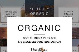 Organic 10 Pc. Social Media Kit