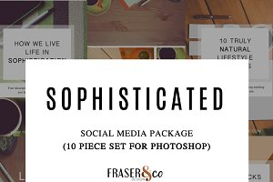 Sophisticated 10 Pc Social Media Kit