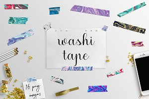 Washi Tape Clipart, Washi Graphics