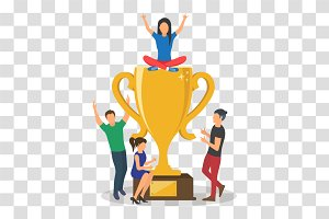 Cup trophy,Golden bitcoins