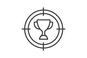 Aim on trophy linear icon