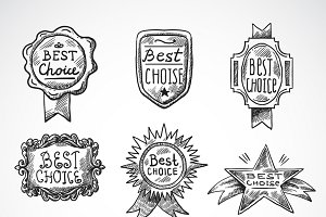 Best choice advertising sketch set