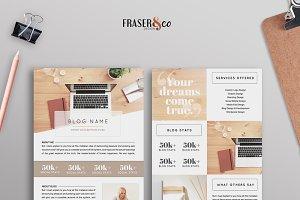 Go Natural Resume Media Kit /2 Page