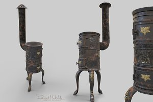 Old Stove Low Poly PBR