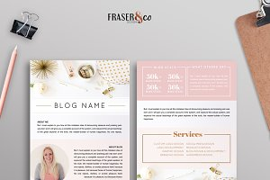 Peachy Resume Media Kit /2 Page
