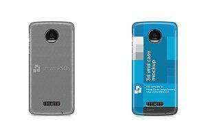 Moto Z 3d IMD Mobile Case Mockup