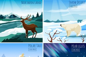 Northern landscape illustration