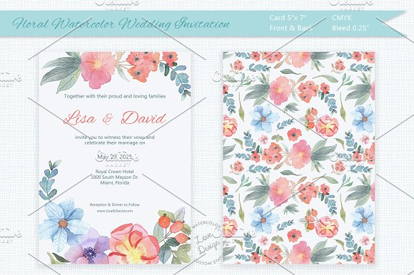 Floral Watercolor Wedding I-Graphicriver中文最全的素材分享平台