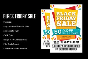 Black Friday Sale flyers.